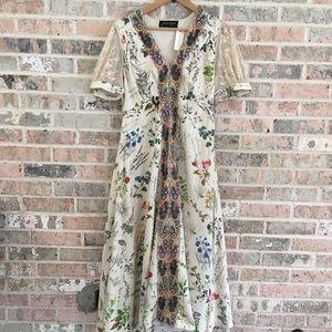 Anthropologie Floral Dress Donna Midi NWT